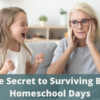 The Secret to Surviving Bad Homeschool Days